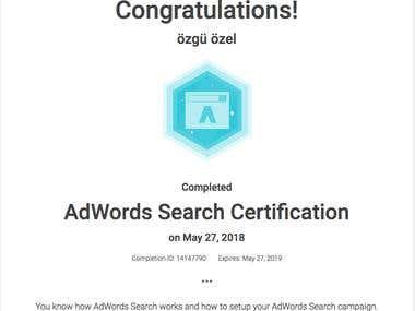 Adwords Certifications
