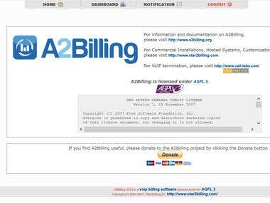 a2billing installing and support