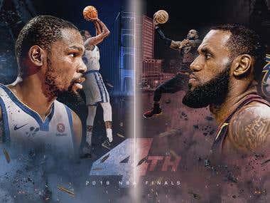 NBA Finals 2018 Warriors Vs. Cavs Design