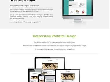 Marketing service website.