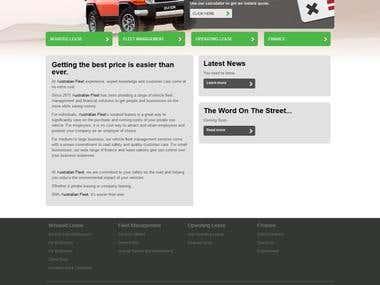 Austrelian fleet service website with calculator