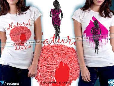 Logo and typography based tshirt designs