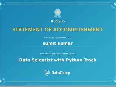 Data Scientist with Python Track