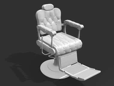 Modeling of chairs and accessories for hairdressing salons