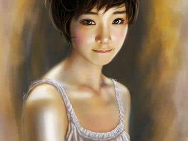 portrait japanese girl