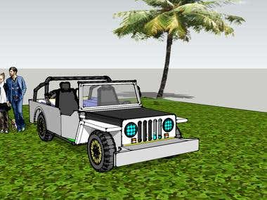 Philippine Owner Type Jeep SketchUp