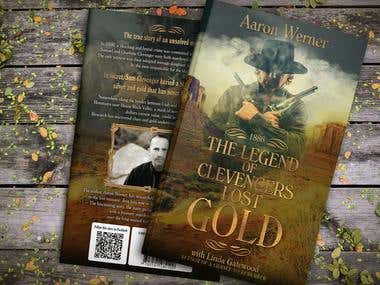 The Legend of Clevengers Gold - book cover & typesetting