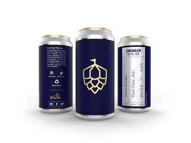 Draft beer label design.