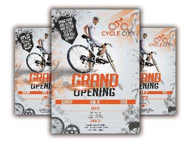Cycle City Flyer and Business Card in $150