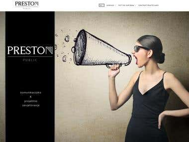 Web site - www.preston-public.hr