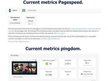 Pagespeed Optimizacion de sitio web.