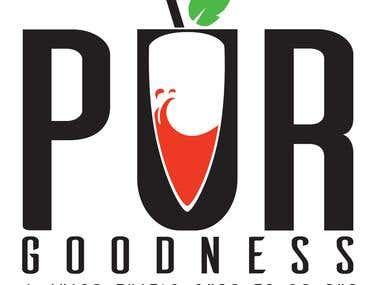 Logo for a juice company