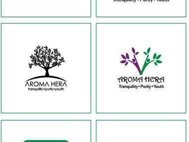 Logo design for aroma Hera