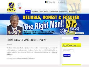DLP Barbados Website Development Project