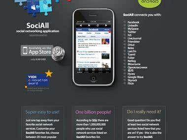 iPhone app landing page