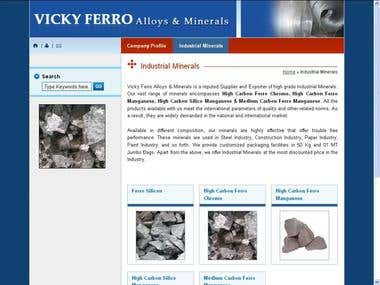 Vicky Ferro Alloys & Minerals Website Design
