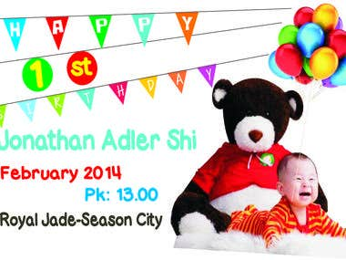 Invitation for first Birthday Party