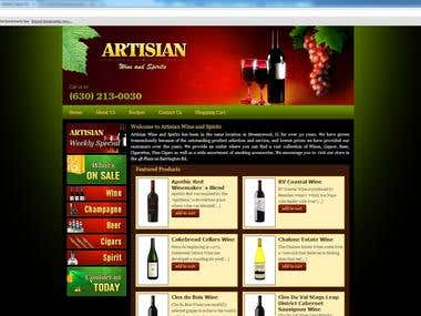 Website Designed for Tobacco and Liquor business