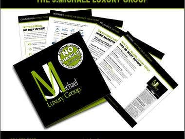 Brochure for J.Michal Luxury group