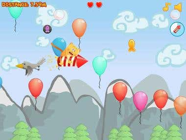 Fly Meow - Flash Game
