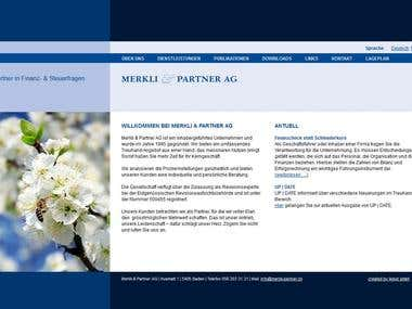 Merkli und Partner Website (Wordpress)