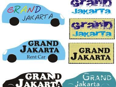 "Logo Design for Rent Car ""Grand Jakarta"""