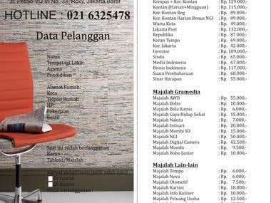 Flyer for Newspaper & Magazine Outlet