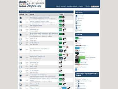 CalendarioDeportes - Sport Calendar