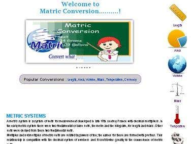 Matric Conversion