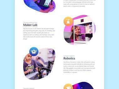 Landing Page Design for mystemcafe.com