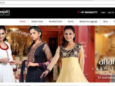 E Commerce Store for Vastranjali
