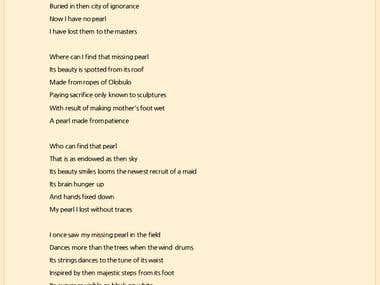 LOST JEWEL ( A poem)