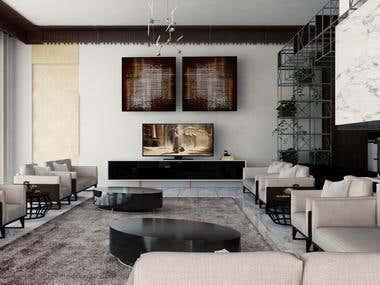 Contemporary Apartment Design + 3D Visualization