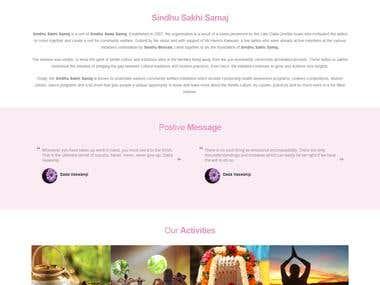 Sindhi Sakhi Samaj NGO Cultural Functions - Dynamic Website