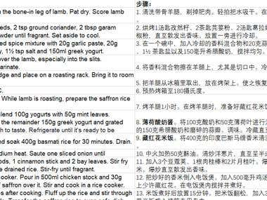recipe translation