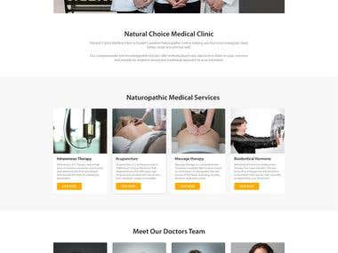 Natural Choice Landing Page