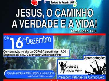Banner Marcha para Jesus.