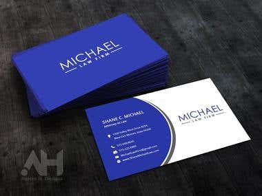 MICHAEL Law Firm Business Card