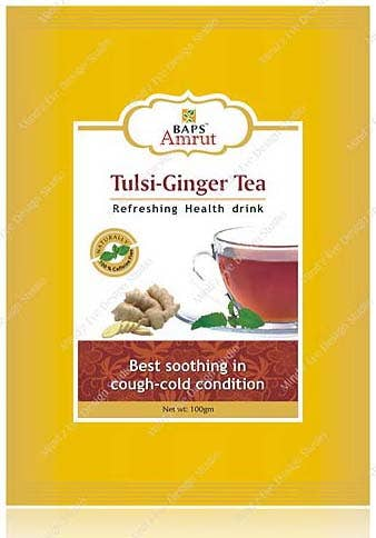Herbal Tea Pouch Label & Box Design