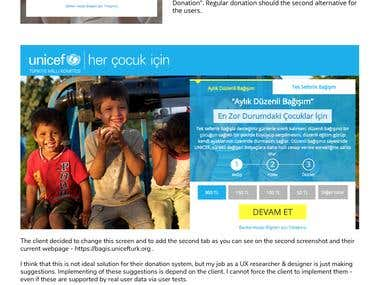 UX Research Case - Unicef Turkey