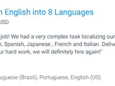 English to multi language