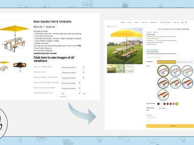 Website re-design | BeerGardenFurniture