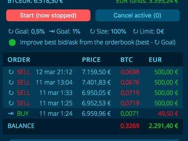Cryptocurrencies trading bot