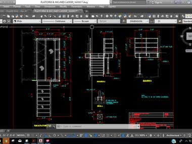 Platform and stair created in Tekla structure