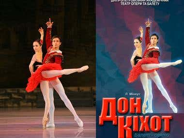 Poster for Ballet Don Quijote(Kuhar and Stoyanov)