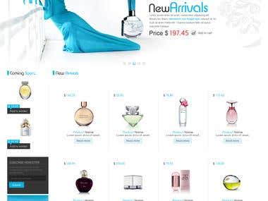 Beauty Store Website Design