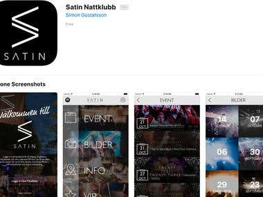 Satin NightClub App