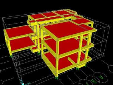 Sap2000 modeling and Auto Cad drawings