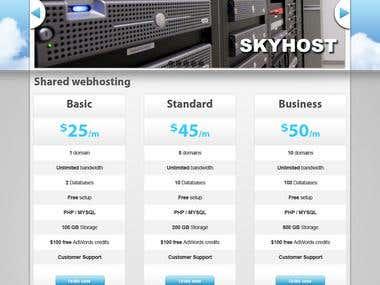 Webhosting design