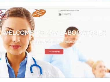 Pharma product discription website